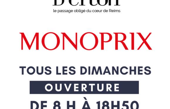 MONOPRIX est ouvert le dimanche