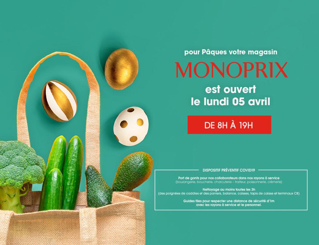 Monoprix Reims ouvert le lundi de Pâques